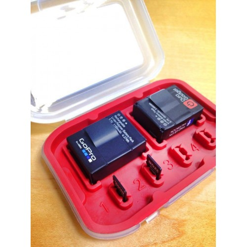 new style f0ca8 f5452 Action Tote - Memory Card and Battery Holder for GoPro Hero 3 / 3+