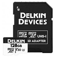 128GB Delkin Devices MicroSD Memory Card - UHS-3 - Class 10 - V30