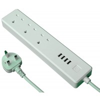 Ener-J Smart Wifi Triple Extension Lead with USB - 1.8M