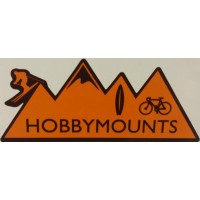 "2 x Hobby Mounts Vinyl Sticker 147mm x 60mm (6"" x 2.5"" approx) - External"