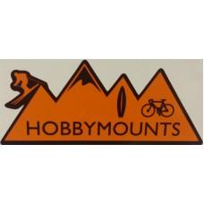 """2 x Hobby Mounts Vinyl Sticker 147mm x 60mm (6"""" x 2.5"""" approx) - External"""