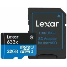 Lexar 633x SDHC Micro SD Class 10 Memory Card - 32GB
