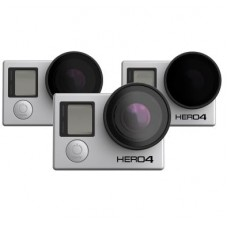 Polar Pro Frame 2.0 ND Filters for GoPro Hero 3, 3+ and Hero 4 Cameras - 3 pack