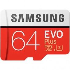 64GB Samsung EVO Plus MicroSD Memory Card - UHS-3 Class 10