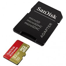 32GB SanDisk Extreme MicroSD Memory Card - UHS-3 - Class 10
