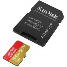 64GB SanDisk Extreme MicroSD Memory Card - UHS-3 - Class 10