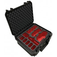 Tom Case Waterproof Drone Case - Travel Edition Plus (Black/Red) for DJI Mavic Air