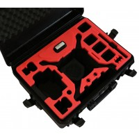 Tom Case Waterproof Drone Case with Crystal Sky Holder for DJI Phantom 4 Series (Black/Red)