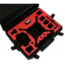 Tom Case Waterproof Drone Case with Crystal Sky Holder for DJI Phantom 4 Series (Black/Red)