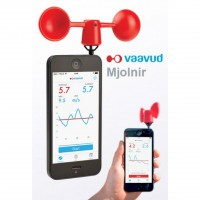 Vaavud MJOLNIR Anemometer Wind Meter for Smartphone / Tablet - Red